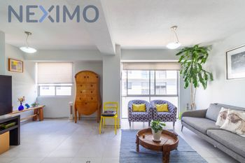NEX-37560 - Departamento en Renta en Piedad Narvarte, CP 03000, Ciudad de México, con 2 recamaras, con 2 baños, con 90 m2 de construcción.