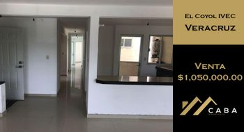 NEX-32498 - Departamento en Venta en El Coyol, CP 91760, Veracruz de Ignacio de la Llave, con 3 recamaras, con 2 baños, con 134 m2 de construcción.