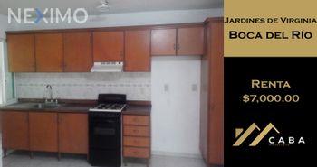 NEX-41704 - Departamento en Renta en Jardines de Virginia, CP 94294, Veracruz de Ignacio de la Llave, con 3 recamaras, con 2 baños, con 100 m2 de construcción.