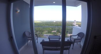 NEX-25300 - Departamento en Renta en Cancún Centro, CP 77500, Quintana Roo, con 3 recamaras, con 2 baños, con 1 medio baño, con 132 m2 de construcción.