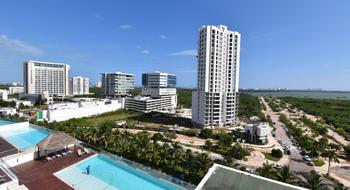 NEX-28739 - Departamento en Renta en Cancún Centro, CP 77500, Quintana Roo, con 2 recamaras, con 2 baños, con 115 m2 de construcción.