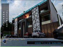 NEX-35423 - Departamento en Venta en Aldea Zama, CP 77760, Quintana Roo, con 2 recamaras, con 2 baños, con 1 medio baño, con 121 m2 de construcción.