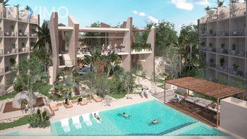 NEX-28777 - Departamento en Venta, con 1 recamara, con 1 baño, con 56 m2 de construcción en La Veleta, CP 77760, Quintana Roo.