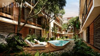 NEX-47193 - Departamento en Venta, con 1 recamara, con 1 baño, con 1 medio baño, con 44 m2 de construcción en Aldea Zama, CP 77760, Quintana Roo.