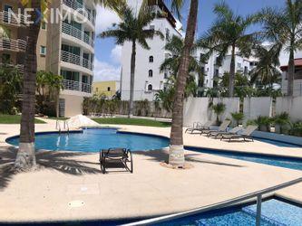 NEX-46672 - Departamento en Renta, con 2 recamaras, con 3 baños, con 80 m2 de construcción en Zona Hotelera, CP 77500, Quintana Roo.