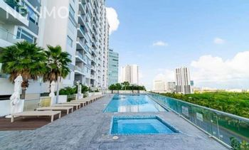 NEX-44648 - Departamento en Renta, con 2 recamaras, con 2 baños, con 110 m2 de construcción en Cancún Centro, CP 77500, Quintana Roo.