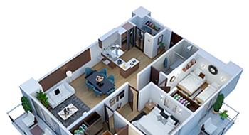 NEX-23169 - Departamento en Venta en San Francisco Cuautlalpan, CP 53569, México, con 2 recamaras, con 2 baños, con 100 m2 de construcción.