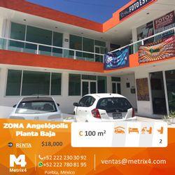NEX-24712 - Local en Renta en Angelopolis, CP 72193, Puebla, con 100 m2 de construcción.