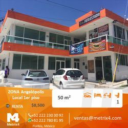 NEX-24714 - Local en Renta en Angelopolis, CP 72193, Puebla, con 1 medio baño, con 50 m2 de construcción.
