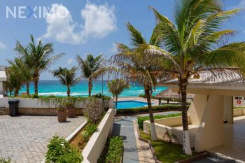 NEX-46197 - Departamento en Renta, con 2 recamaras, con 2 baños, con 110 m2 de construcción en Zona Hotelera, CP 77500, Quintana Roo.