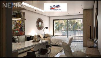 NEX-47629 - Departamento en Venta, con 1 recamara, con 1 baño, con 46 m2 de construcción en Brisas, CP 77720, Quintana Roo.